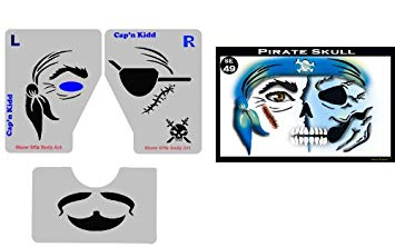 Pirate Skull Stencil Eyes - Adult