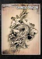 Wiser's Chinese Dragon Tattoo Pro Stencil