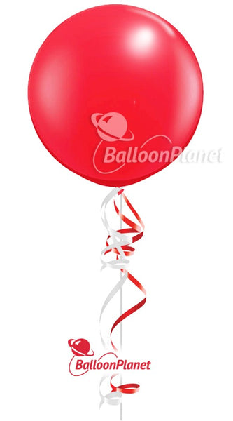 36in Red Round Latex Balloon