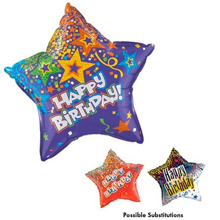 "20"" Birthday Star Balloon"