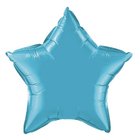20in Teal Star Balloon