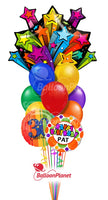 "SHOOTING STARS BIRTHDAY PRESENT 35"" SuperShape BALLOON"