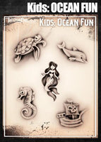 Wiser's Kids Ocean Fun  Tattoo Pro Stencil