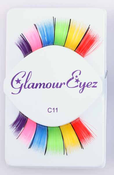 Glamour Eyez Rainbow Eyelashes Halloween Costume Accessory