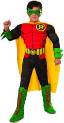 Rubies Costume DC Superheroes Deluxe Robin Child Halloween Costume Large