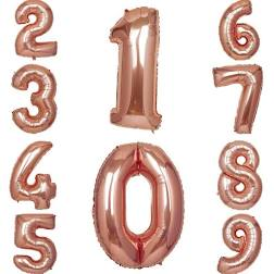 Rose Gold Foil Number Balloons 36""