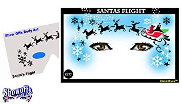 Santa's Flight Stencil Eyes