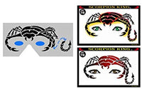 Scorpian King Stencil Eyes