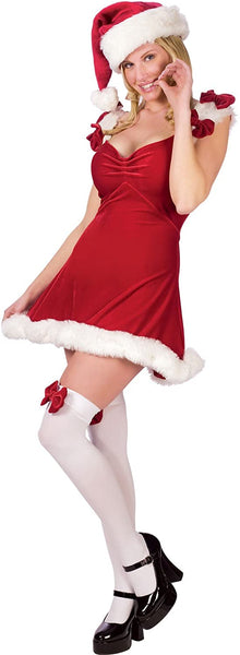 Fun World Costumes Women's Sexy Elf Red Dress Costume Adult Standard