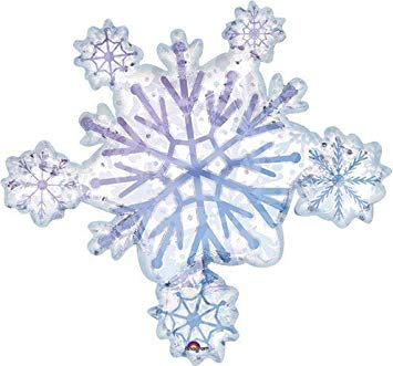 "32"" Snowflake Foil SuperShape Balloon"