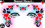 Sweet Heart Stencil Eyes - Adult