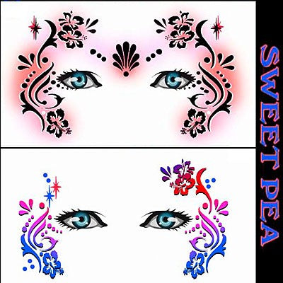 Sweet Pea Stencil Eyes - Adult