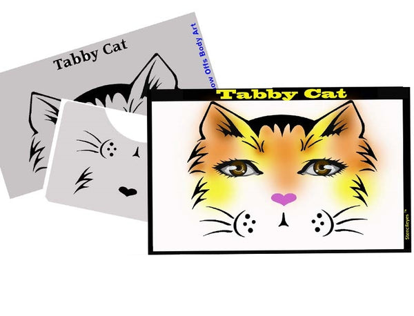 Tabby Cat Stencil Eyes