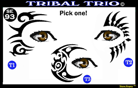 Tribal Trio Stencil Eyes