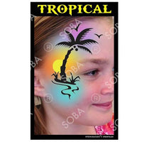 Tropical Palm Tree - Profile Stencil
