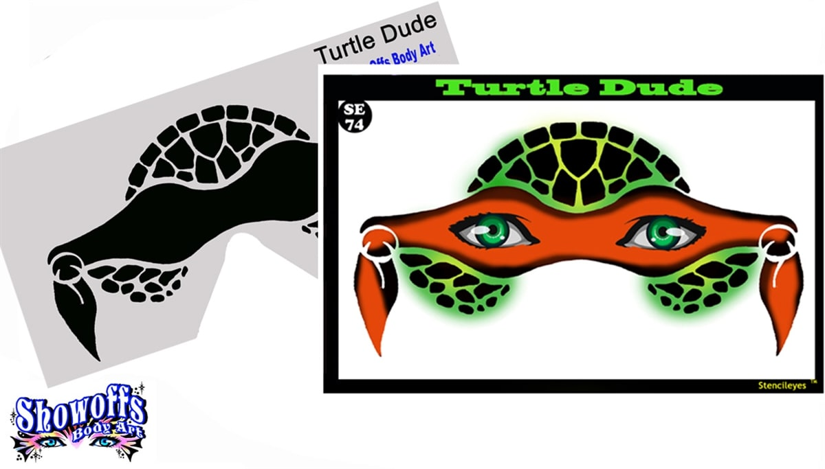 Turtle Dude Stencil Eyes Child Dotsy S Entertainment Co