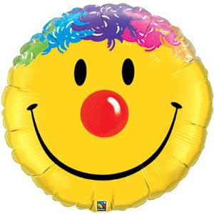 18in Smile Face Rainbow Hair Balloon
