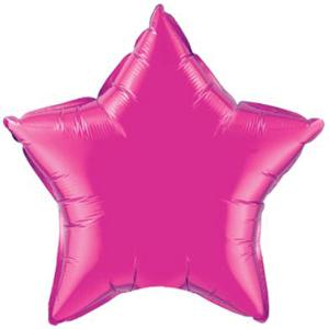 20in Magenta Star Balloon