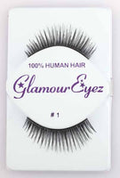 Glamour Eyez Black Eyelashes Halloween Costume Accessory #1
