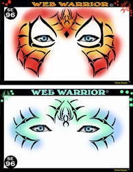 Web Warriors Stencil Eyes