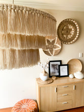 "Load image into Gallery viewer, Macrame Chandelier Pendant Lightshade ""The Fringe"""