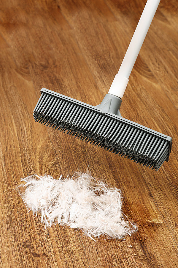 Rubber Broom - Rinse Soap- Pet Hair Removal