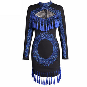 Blue Tassel Fringe Dress
