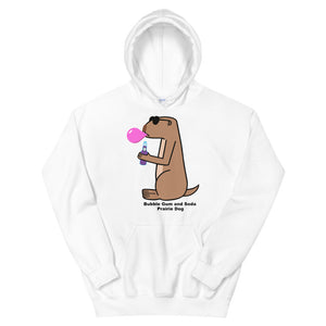 Bubble Gum and Soda Prairie Dog | Unisex Hoodie - Great Black Tiger Press