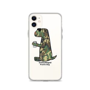 Camouflaged Prairie Dog | iPhone Case - Great Black Tiger Press