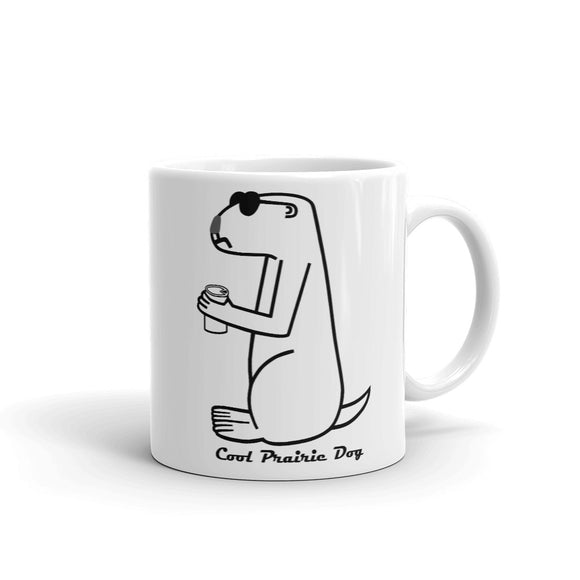 Cool Prairie Dog In Black | Mug