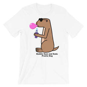 Bubble Gum and Soda Prairie Dog | Short-Sleeve Unisex T-Shirt - Great Black Tiger Press