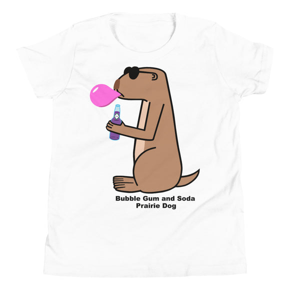 Bubble Gum and Soda Prairie Dog | Youth Short Sleeve T-Shirt
