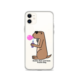 Bubble Gum and Soda Prairie Dog | iPhone Case - Great Black Tiger Press