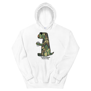 Camouflaged Prairie Dog | Unisex Hoodie - Great Black Tiger Press