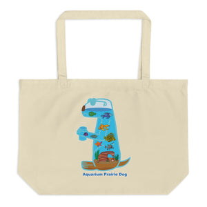 Aquarium Prairie Dog | Large organic tote bag