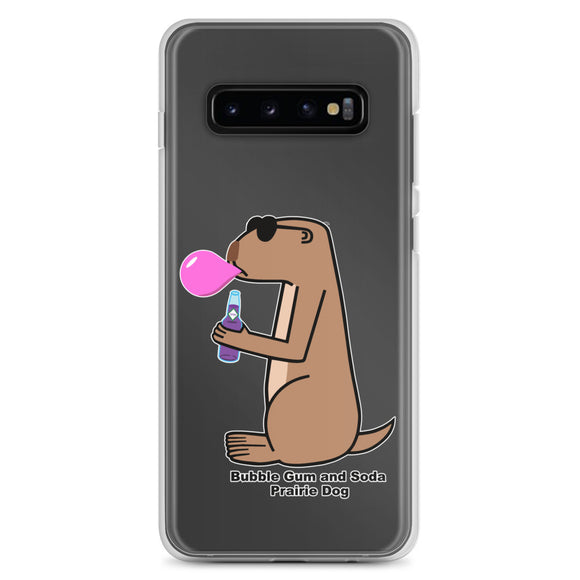 Bubble Gum and Soda Prairie Dog | Samsung Case - Great Black Tiger Press