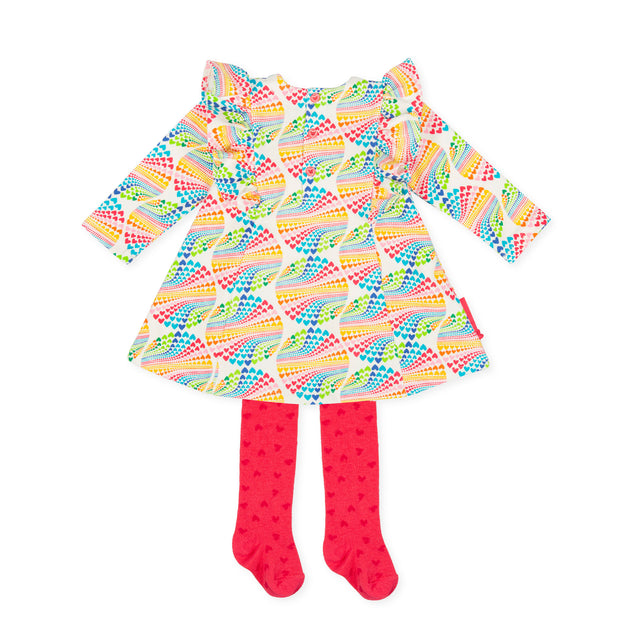 Pre-order Agatha Ruiz De La Prada Motas Dress & Tights Set