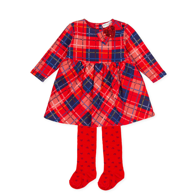 Pre-order Agatha Ruiz De La Prada Escoces Tartan Dress & Tights Set
