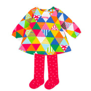 Pre-order Agatha Ruiz De La Prada Patchwork Dress & Tights Set
