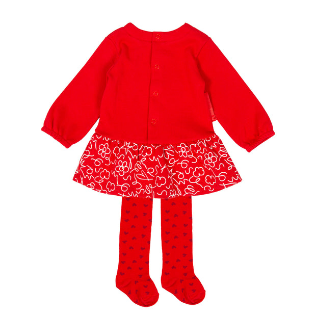Agatha Ruiz De La Prada Red Dress & Tights Set