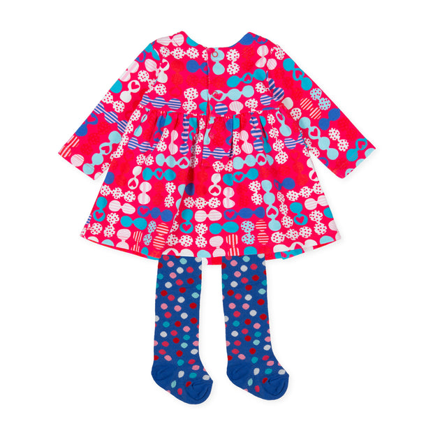 Pre-order Agatha Ruiz De La Prada Fideos Dress & Tights Set