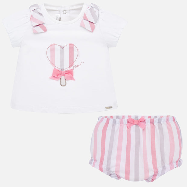 Baby Girls Mayoral Lollipop Bloomer Set