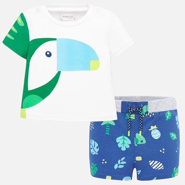 PRE-ORDER Baby Boys Mayoral Bird Shorts Set
