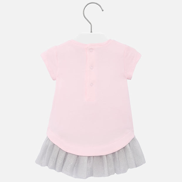 Girls Mayoral Pink Bear Dress