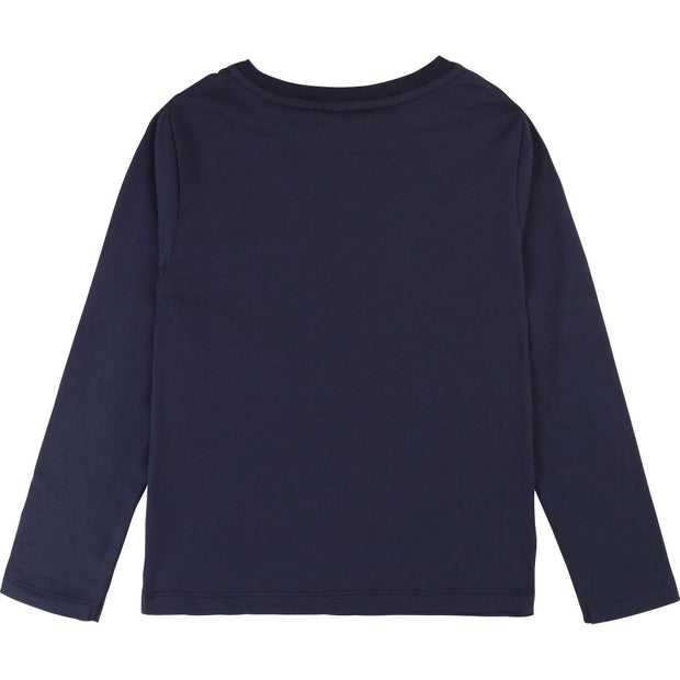 Boys Billybandit Navy Long Sleeved T-shirt