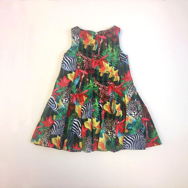 Girls Pan Con Chocolate Neus Jungle Print Dress