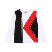 Boys Karl Lagerfeld Kids White Logo Long Sleeved T-Shirt