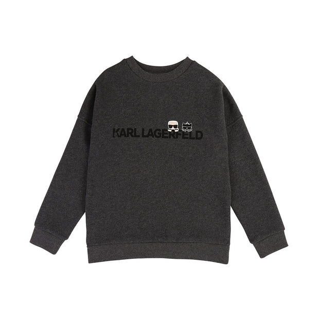 Boys Karl Lagerfeld Kids Grey Sweatshirt