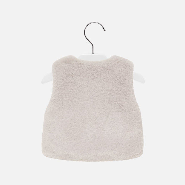 Girls Mayoral Grey Faux Fur Gilet