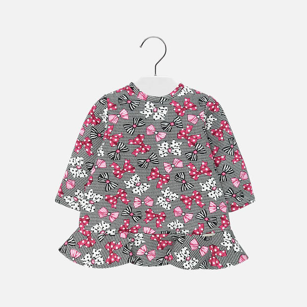 Girls Mayoral Bow Print Dress